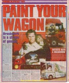 Journal Anglais sur les peintures des Camions Francais avec comme exemple Le Clint Eastwood