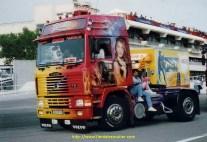La Gitane sur la piste au Castellet en 1992 avec le copian Thierry Amilard