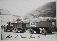 On a du mal à imaginer de nos jours le temps qu'il fallait à ce camion remorque pour effectuer un aller retour Thonon-Paris...