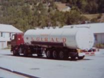 Tunnel du Frejus, citerne isotherme 6 compartiments JUILLET 1984
