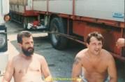 """Le Serbe """"notre cousin"""" à gauche, et Jean Pierre Laroche"""