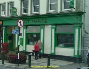 la poste irlandaise est comme tout ici : verte