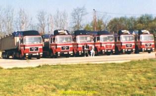Le transport des dechets menagers, première generation avec des man F8