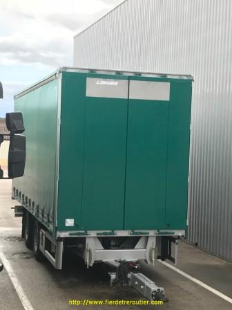 remorque avec portes intégrales