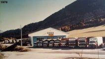 1970 La flotte compte 16 camions, site de LA TOUR 74
