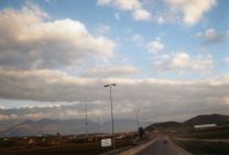 bout d'autoroute avant d'arriver à Tirana (2kms de long)