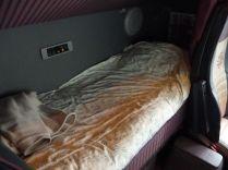 la couchette est un véritable lit : je dors mieux dans le camion que chez moi !