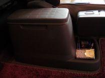 le vide poche du siège conducteur : pas mal mais souvent nid à bordel...
