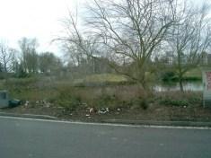 Mais voyez plutôt comme c'est triste autour des poubelles, alors que l'aménagement paysager est magnifique. Au passage une devinette: Ou j'étais garé? Indice: parking d'autoroute avec des canards.