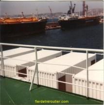 sur le bateau en route vers le MAROC nos cabines tout confort