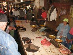 rayon viandes au marché