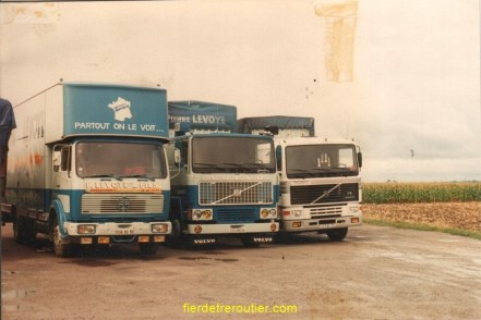 3 camions 3 frangins et en plus mes trois camions neuf, mercédes « Jean Pierre » volvo « BB Patrice »volvo « moi Bruno »