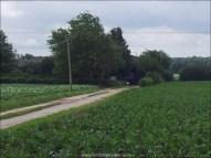 Chemin d'entrée dans la ferme, j'ai préféré y aller à pieds d'abord.