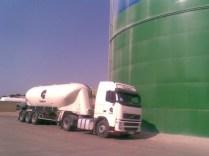 vidé dans un silo de 5000 tonnes