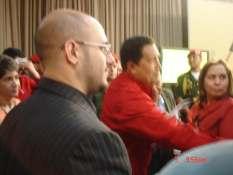 Con el Comandante Hugo Chavez en Venezuela