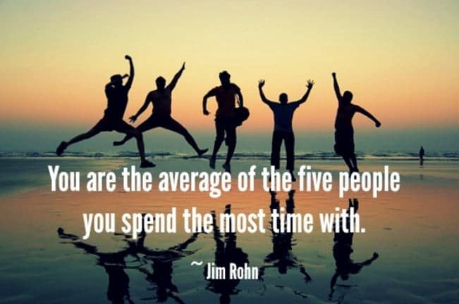 average of your 5 closest friends