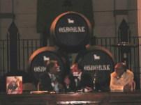 """En las Bodegas de """"Osborne"""", en El Puerto de Santa María (Andalucía, España), con Fernando Gago –Alcalde- y el Dr. Rafael Herrera"""
