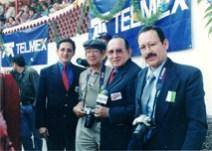 """Transmitiendo la """"Feria Nacional del Novillero Telmex"""": Enrique Hernández Vázquez, Alfredo Flórez, Enrique Hernández Flores y Pepe Soto"""