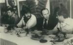 El Periodista Addiel Bolio, el Empresario Rafael Herrerías, Enrique Hernández Flores y el Compositor Federico Méndez