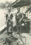 """Al lado del Paracaidista """"El Ratón"""", del Batallón de Fusileros Paracaidistas del Ejército Mexicano, tras un salto en el Lago de Tequesquitengo (Morelos, México)"""