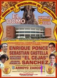 """Cartel inaugural  """"EL DOMO""""  Centro de Espectáculos de San Luis Potosí"""