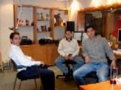 El Equipo Técnico en la Cabina del Estudio 7 de Grupo ACIR
