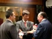 Enrique Hernández Vázquez, Lic. Francisco Ibarra Fariña (Vicepresidente de Grupo ACIR) y Enrique Hernández Flores