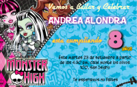 Invitaciones Monster High gratis