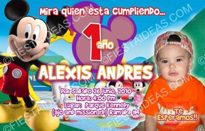 invitacion mickey mouse 2