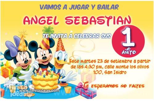 Invitaciones De Mickey Mouse Para Imprimir Gratis 2018