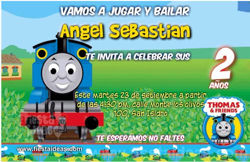 invitaciones de thomas el tren y sus amigos gratis