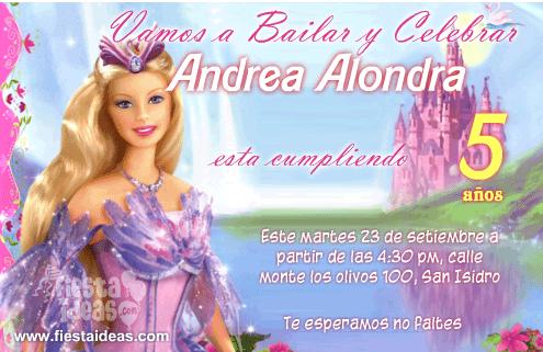 Invitaciones De Barbie Para Editar E Imprimir Gratis