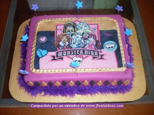 ideas de decoracion de tortas de Monster High