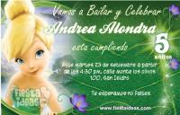 invitaciones de Campanita Tinker Bell