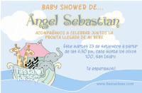 Invitaciones baby shower con arca de noe lleno de animalitos
