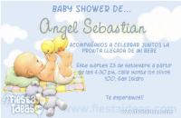 Invitaciones baby shower con bebe y peluches