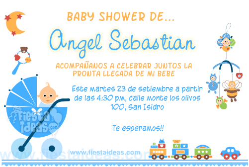 invitacion de baby shower para niño