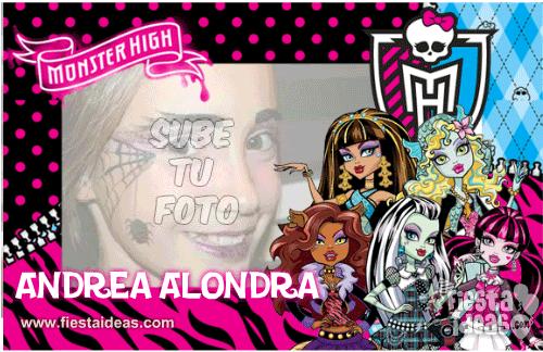 Marco de fotos Monster High Gratis fucsia