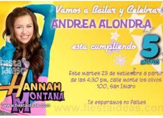 invitaciones de cumpleaños_Hannah_montana 3