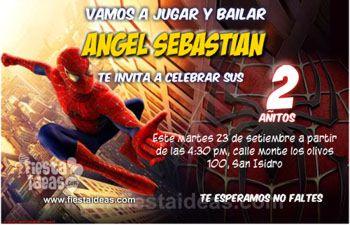 Invitaciones de cumpleaños del hombre araña