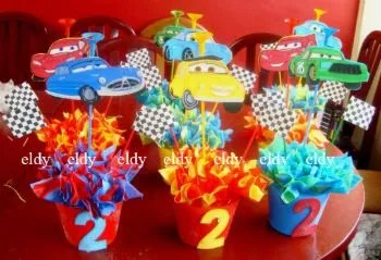 ideas_decoracion_fiesta_cars_02 centro de mesa