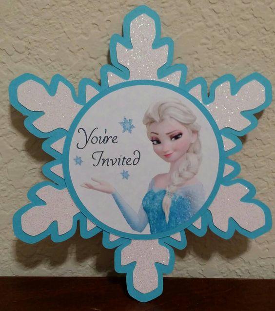 invitacion de frozen en forma de estrella