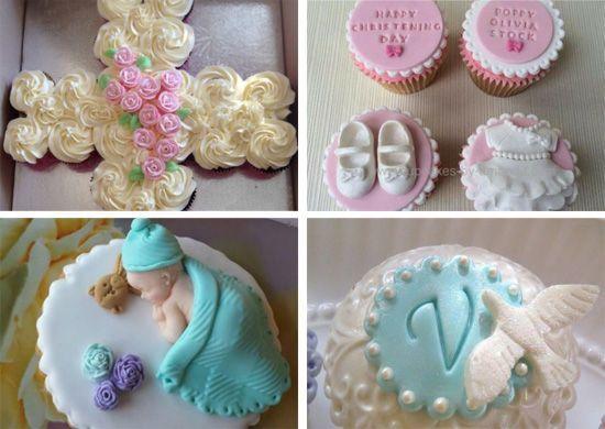 20 ideas de cupcakes para bautizo muy f ciles de hacer - Como hacer decoraciones de bautizo ...