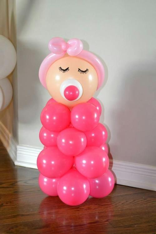 decoracion con globos para babyshower-01 fiestaideas
