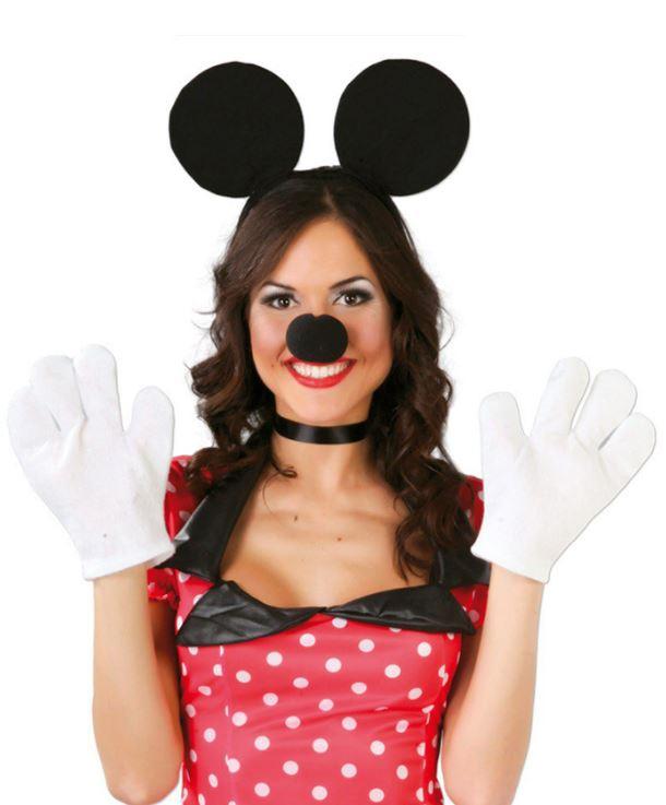Disfraces deMinnie Mouse con orejas y guantes