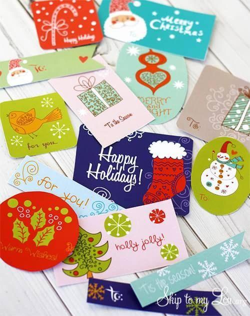 Originales Etiquetas navideñas