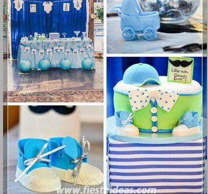 Ideas Adornos Baby Shower.Baby Shower Para Nino Con Hermosas Decoraciones