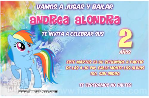 Invitaciones De My Little Pony La Magia De La Amistad Juntas