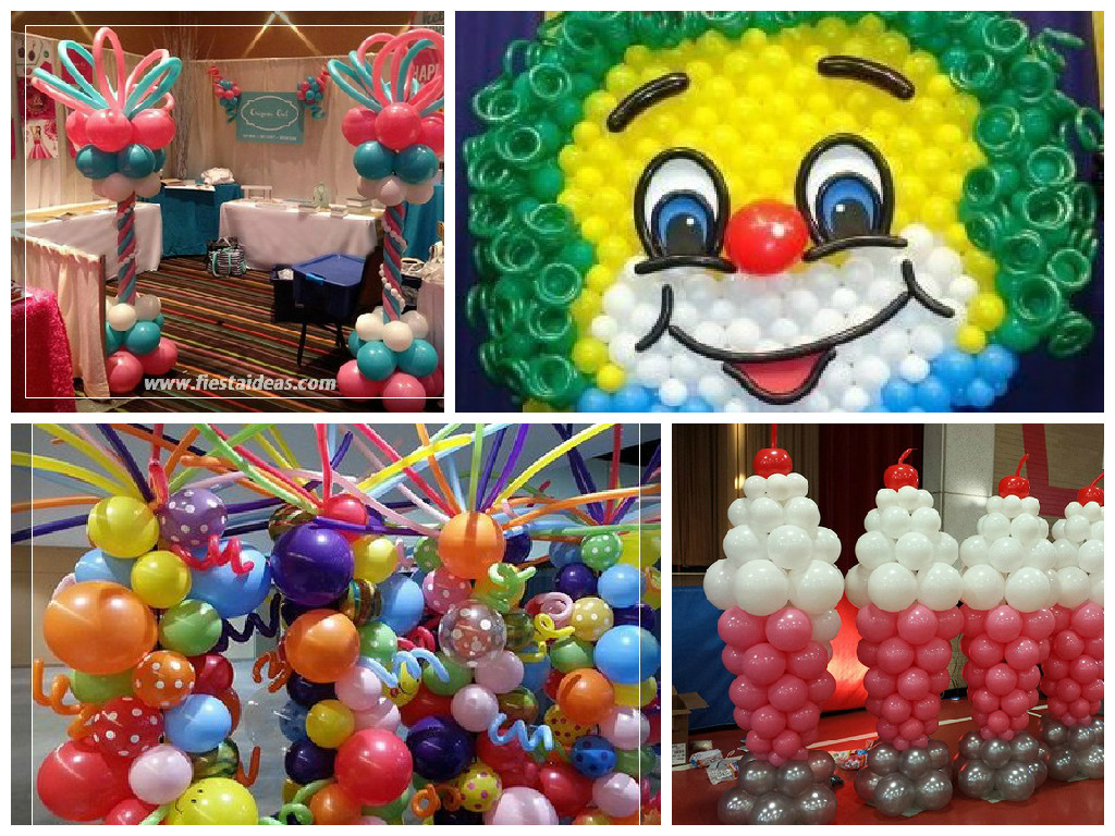 Originales decoraciones con globos fotos y videos paso a - Ideas decoracion fiestas ...