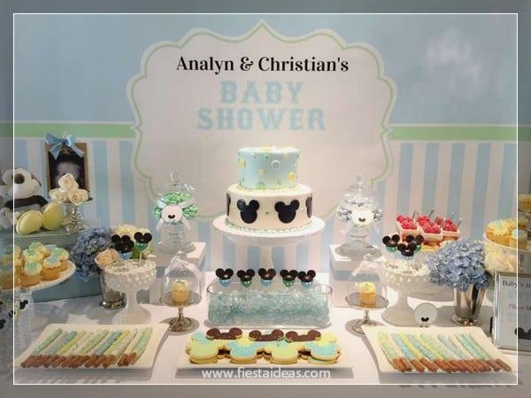 Mesa De Baby Shower.Decoraciones De Baby Shower Con Mickey Mouse